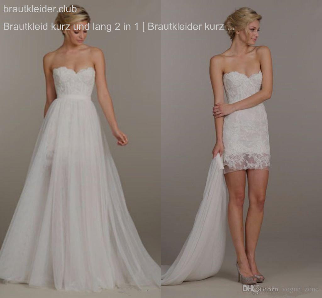 Brautkleid kurz und lang 177 in 17  Brautkleider kurz