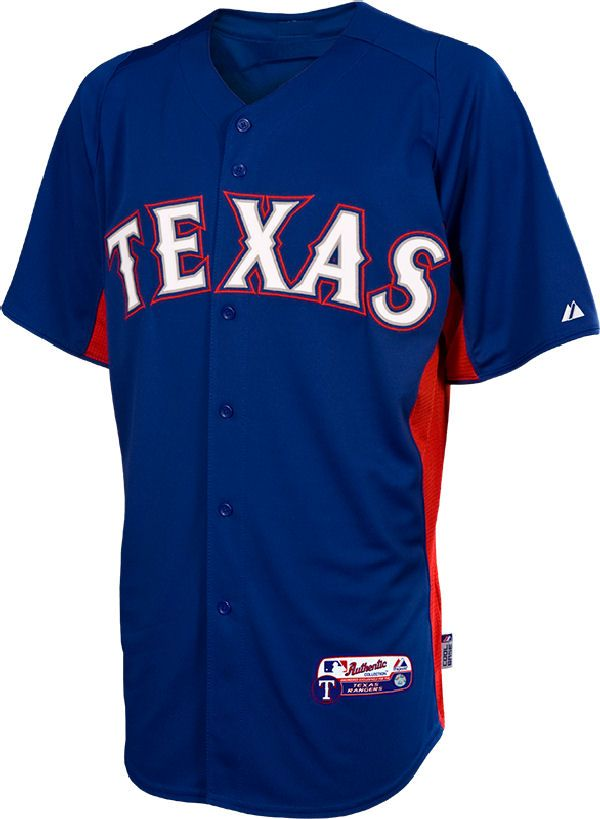 Texas Rangers Cool Base Embroidered Authentic Batting Practice Jersey By Majestic 79 95 Texas Rangers Jersey Texas Sports