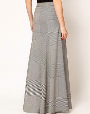 Enlarge ASOS Houndstooth Maxi Skirt  76.64  10a7be629760