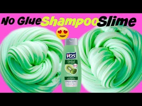 Real 1 Ingredient Slime Only Shampoo Easy Slime Recipe No Glue No