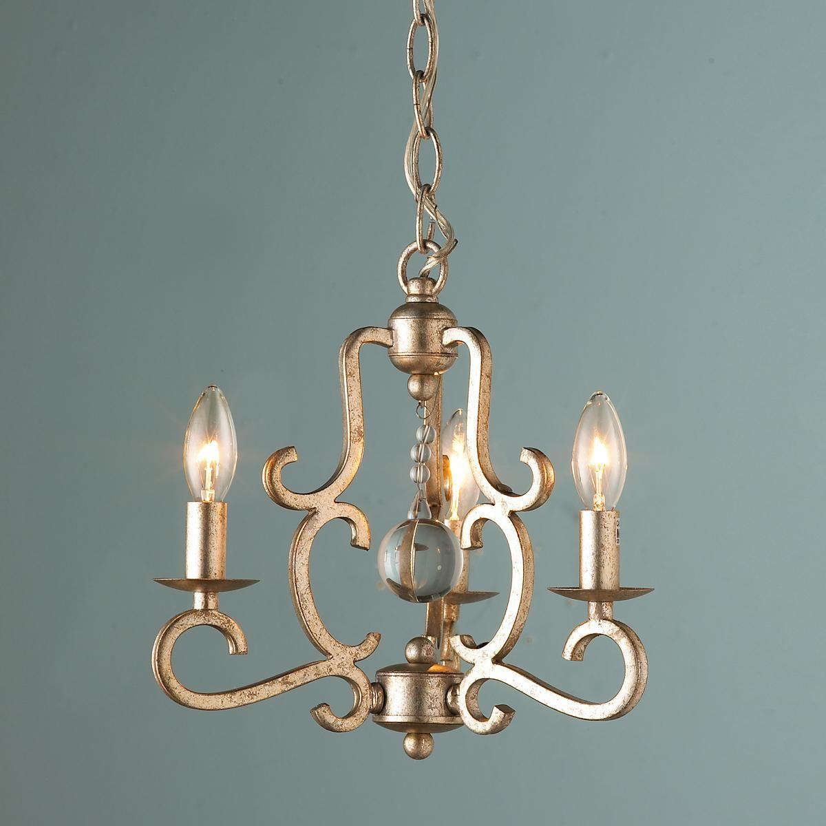 Crystal Drop Mini Chandelier   Mini chandelier, Chandeliers and Lights