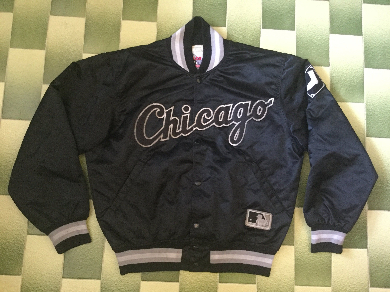 Vintage Mlb Chicagowhitesox Jacket Madeinusa In 2020 Satin Jackets Jackets North Face Windbreaker