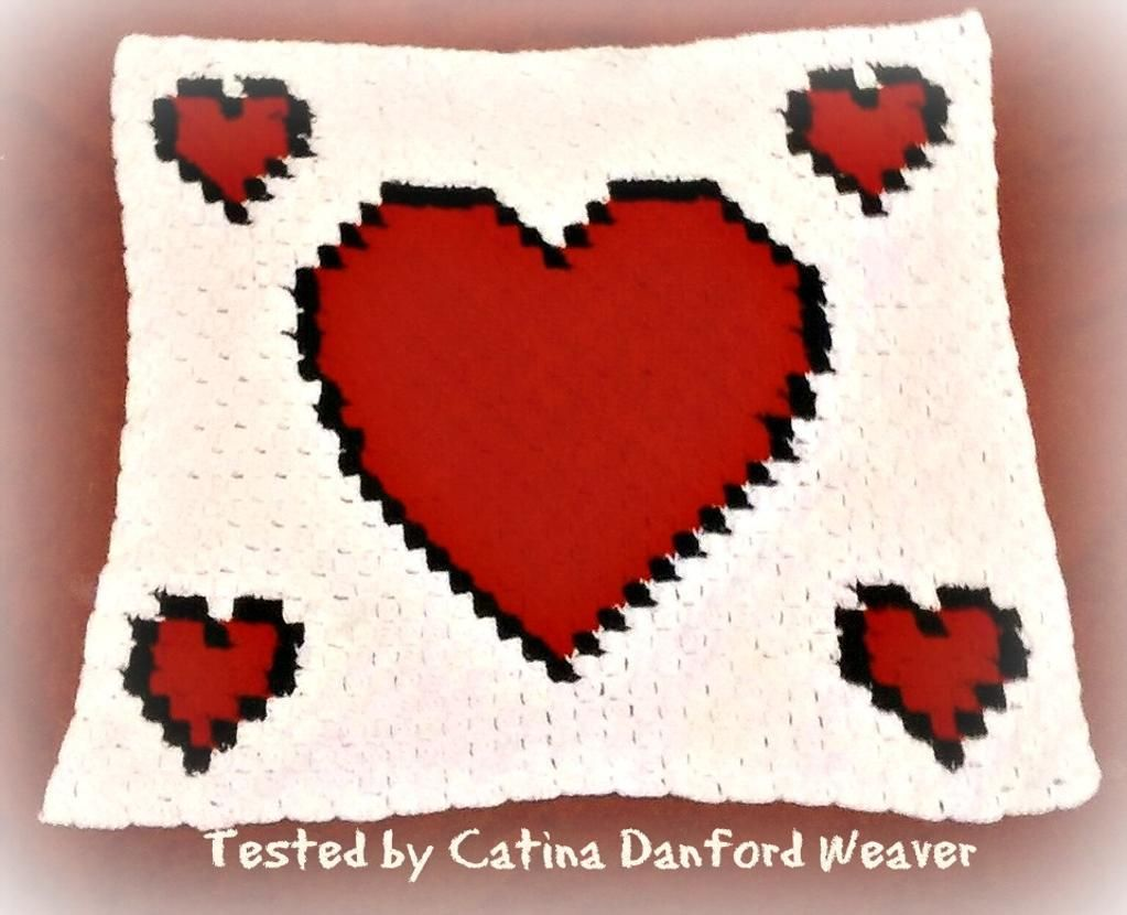 4) Name: \'Crocheting : HEARTS C2C GRAPH AFGHAN PATTERN (FREE ...