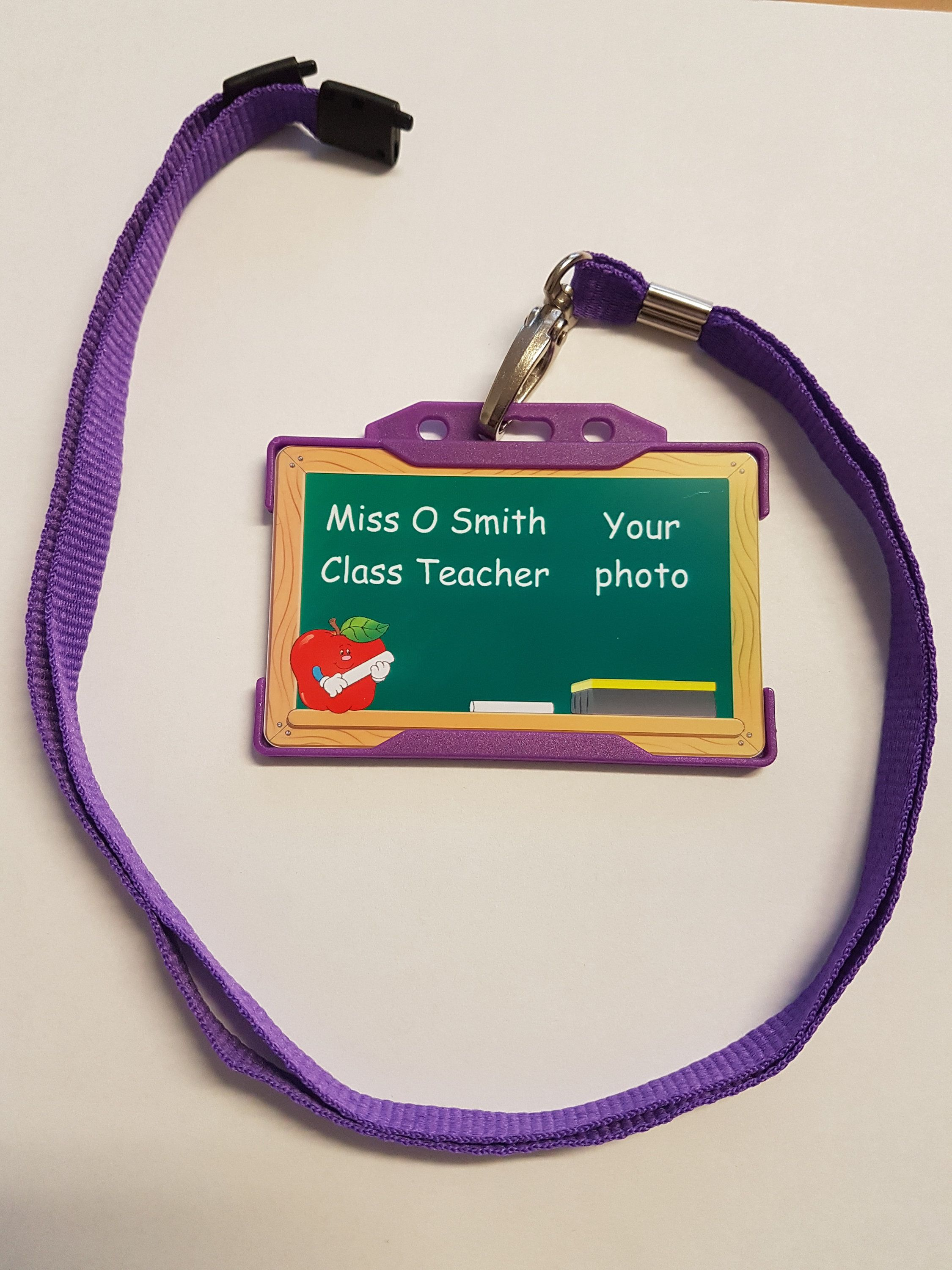 personalised childrens role play class teacher assistant colour plastic id card by lbcustomcardsshop on etsy - Plastic Id Cards