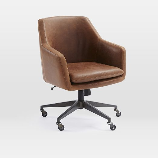 Helvetica Leather Office Chair Upholstered Office Chair Stylish