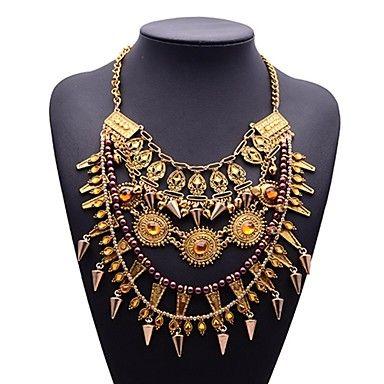 estilo punky de la cadena de múltiples capas remaches colgantes collar de las mujeres de la eternidad – USD $ 7.99