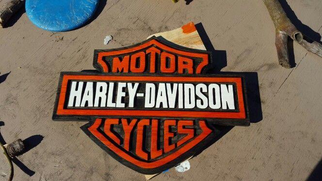 Harley Davidson wooden sign