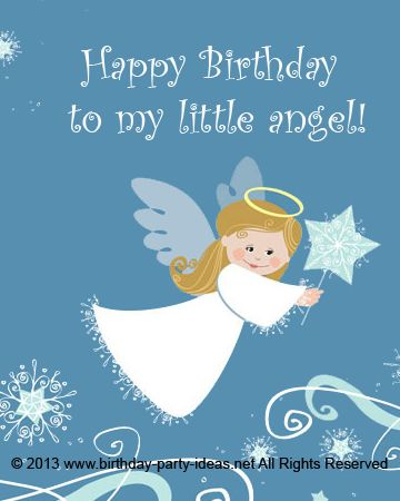 Happy Birthday To My Little Angel Happybirthday Wish Saying