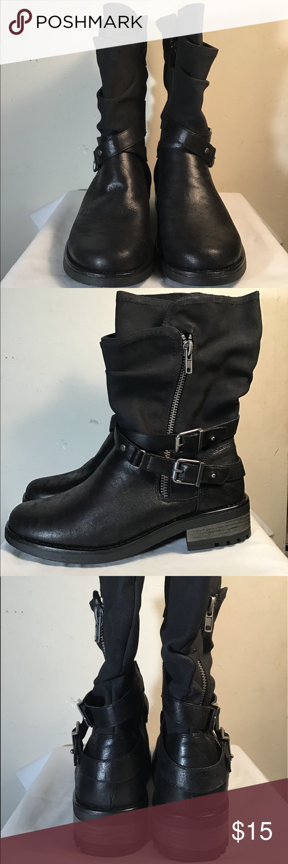 f7f22fecce9f Strappy Slouch Moto Boots (Wide Width   Wide Calf) You can t help