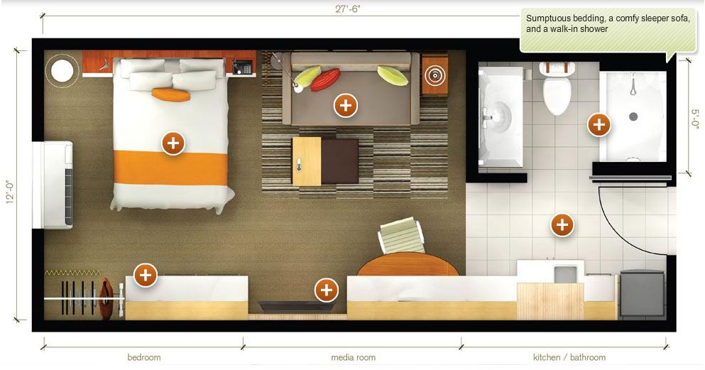 motel room layout Google Search (With images) Studio