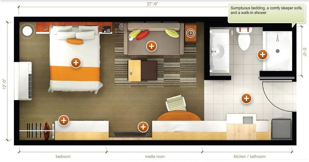 motel room layout  Google Search  Motel ideas  Studio