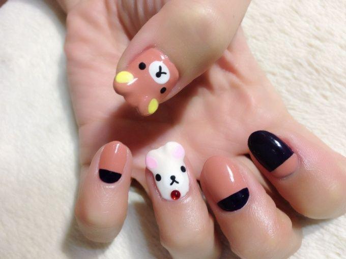 Rilakkuma and Korilakkuma nail art by Nakayama Chieko | Nails ...
