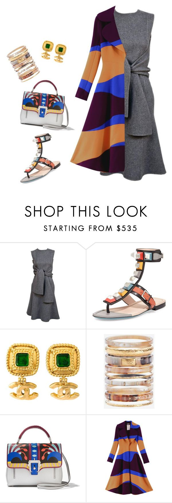 """Something crazy"" by yourownart ❤ liked on Polyvore featuring Fendi, Chanel, Ashley Pittman, Paula Cademartori, Roksanda, women's clothing, women, female, woman and misses"