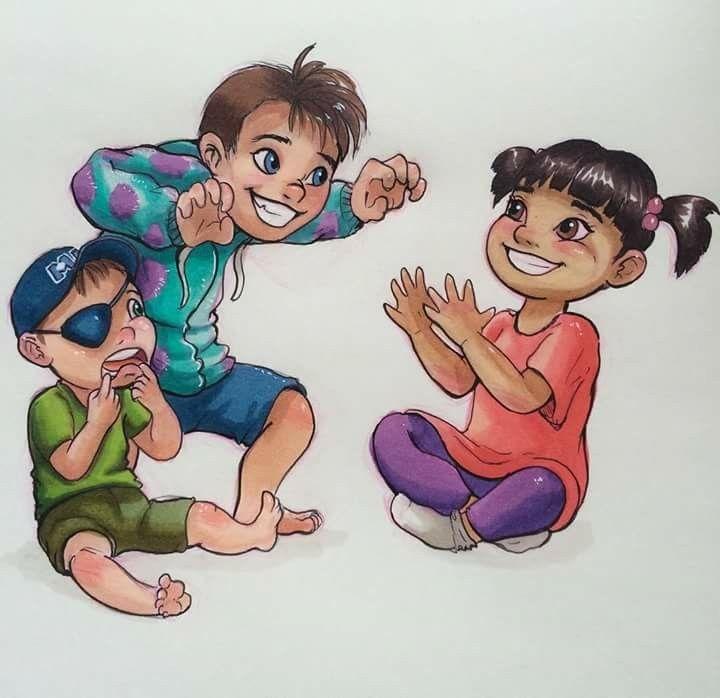 Monsters Inc characters as a child #disney #children #disneycharactersaschildren