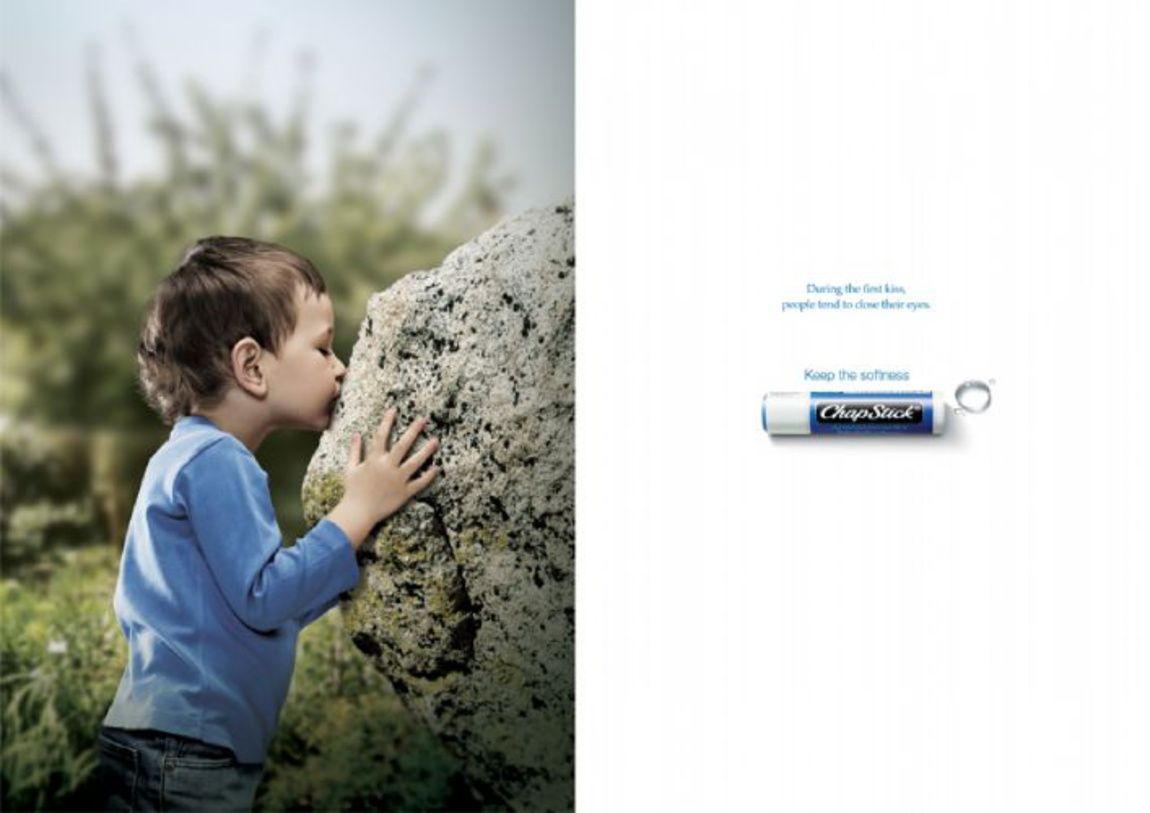 Read more: https://www.luerzersarchive.com/en/magazine/print-detail/wyeth-consumers-41922.html Wyeth Consumers (During the first kiss, people tend to close their eyes.) Campaign for Chap Stick lip balm. Tags: Cheil Worldwide, Seoul,Wyeth Consumers,Kangwook Lee,Hyun Park,Kyungtaek Oh,Jinkwan Kim,MyungJin Jang