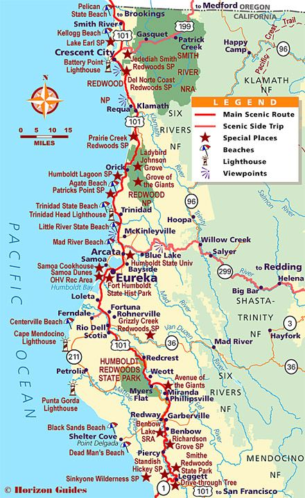 Map Northern California Coast Northern California Vacation Travel Guide – hotels, maps, photos