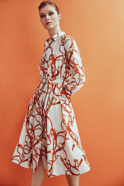 Pedro Del Hierro Vestido Camisero Estampado Amarillo Fashion Dresses Latest Clothing Trends