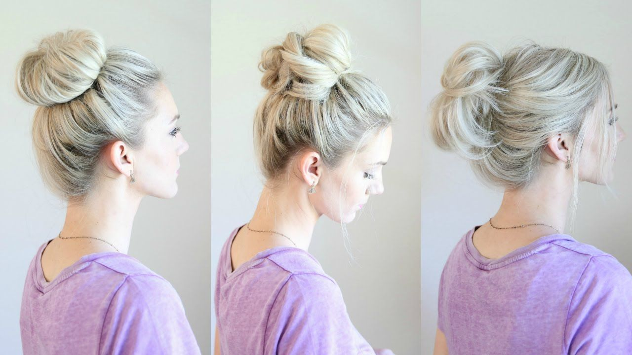 6 Easy Messy Buns | hair | Pinterest | Easy messy bun, Messy buns ...