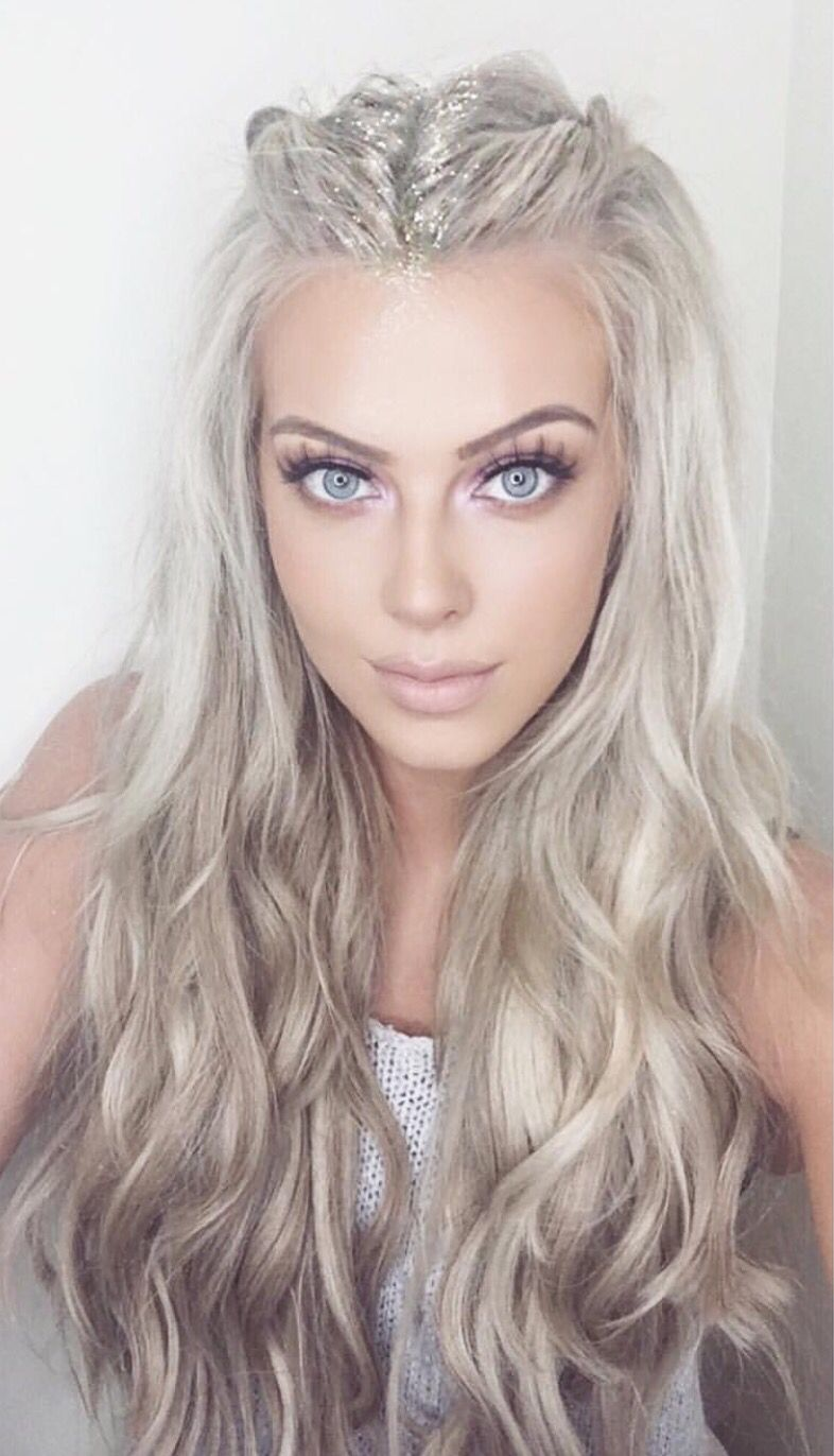 platinum icy blonde | hair | festival hair, platinum blonde