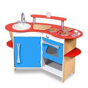 Kitchen Set Pretend Play Melissa Doug Cook S Corner Wooden Childrens Kids New