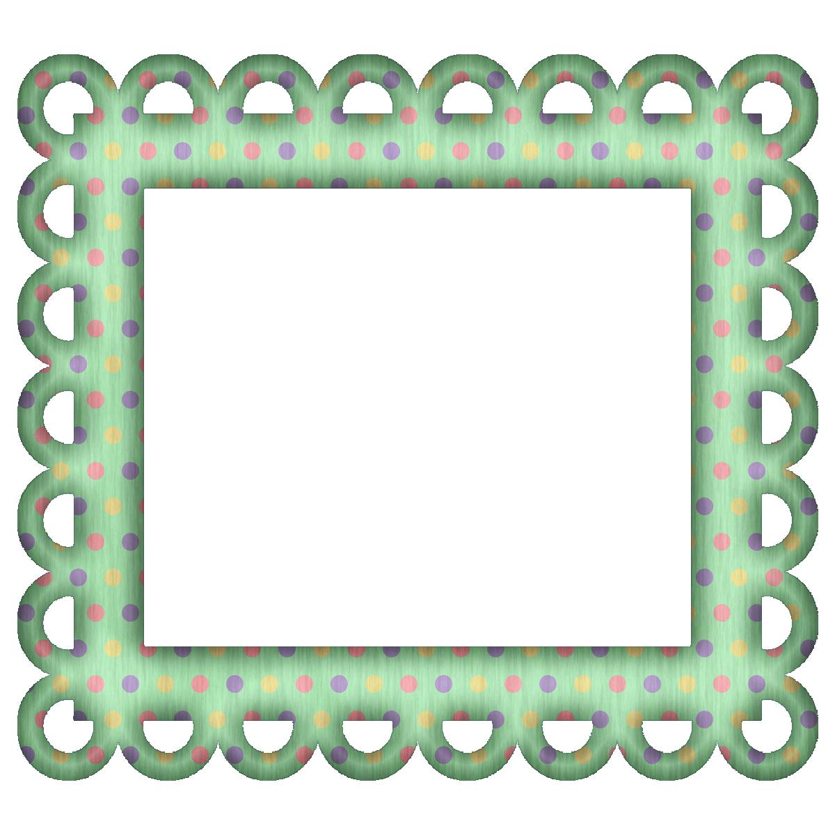 Picture Frames For Scrapbooking Free Free Green Polka Digi Scrapbook Frame Scrapbook Frame Scrapbook Frames Printable Frames