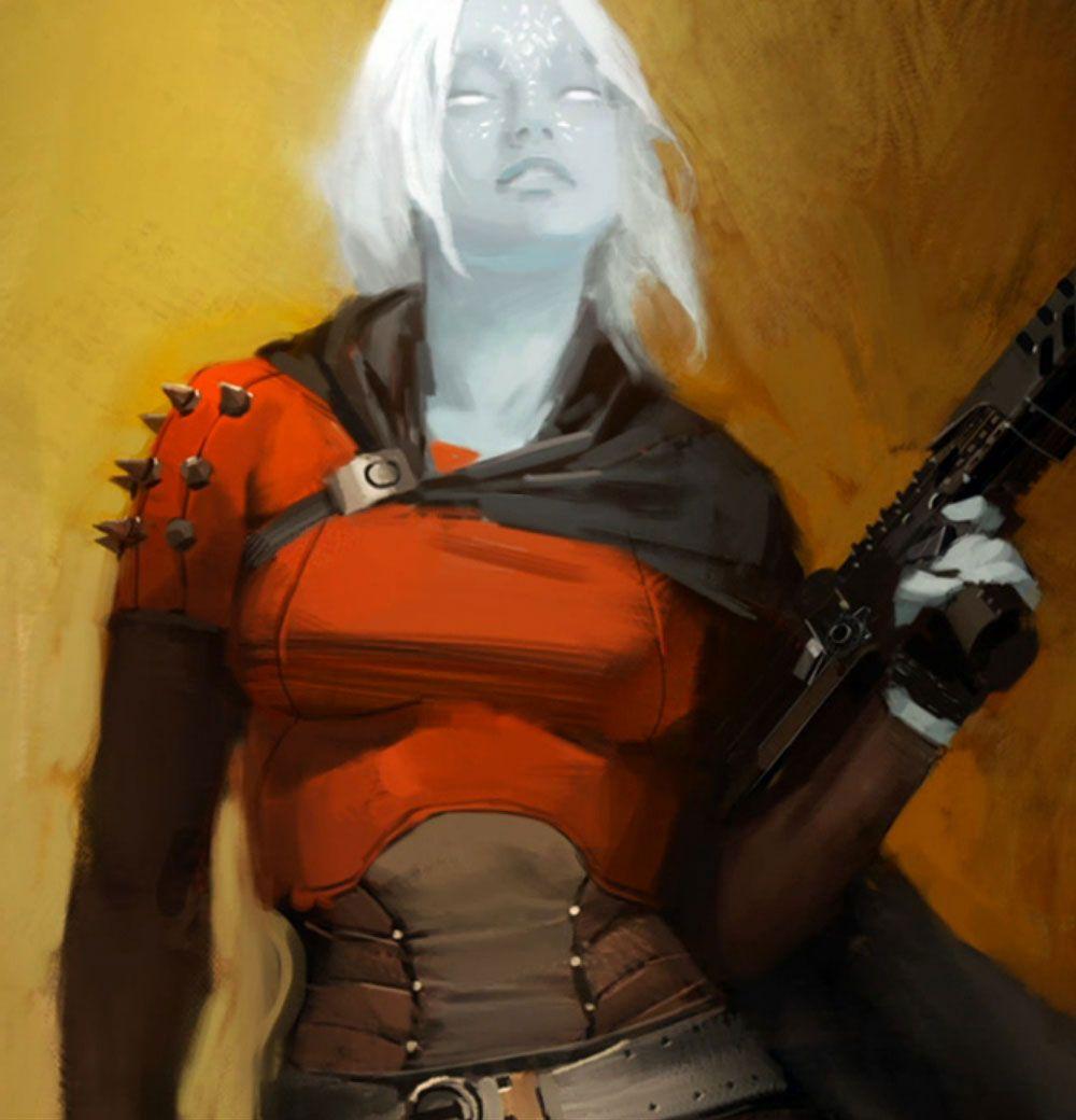 Awoken Female Characters Art Destiny Concept Art Alien Character Female Hunter