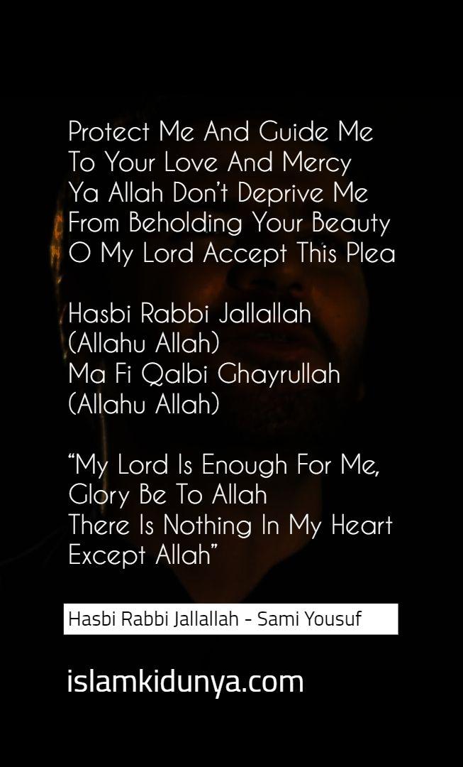 Hasbi Rabbi Jallallah Allah Hu Allah Sami Yousuf Allah Islamic Quotes Lyrics