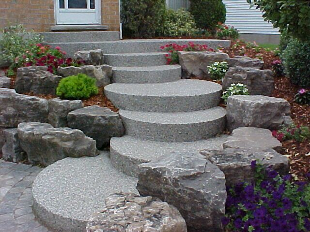 Exposed Aggregate Concrete Landscape Contractor Kitchener Waterloo  Cambridge Guelph Company Patio Walkway Driveway