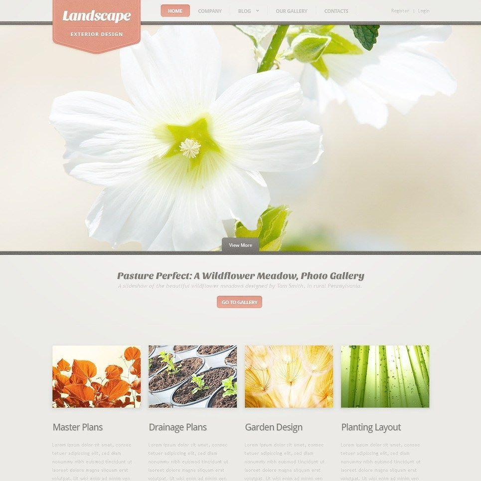Click here to go to the company website - Landscape Design Psd Template Click Here Live Demo Http