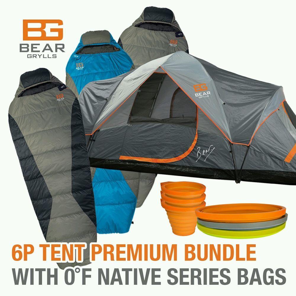 Bear Grylls 6P Camping Tent PREMIUM BUNDLE |3- Zero degree ...