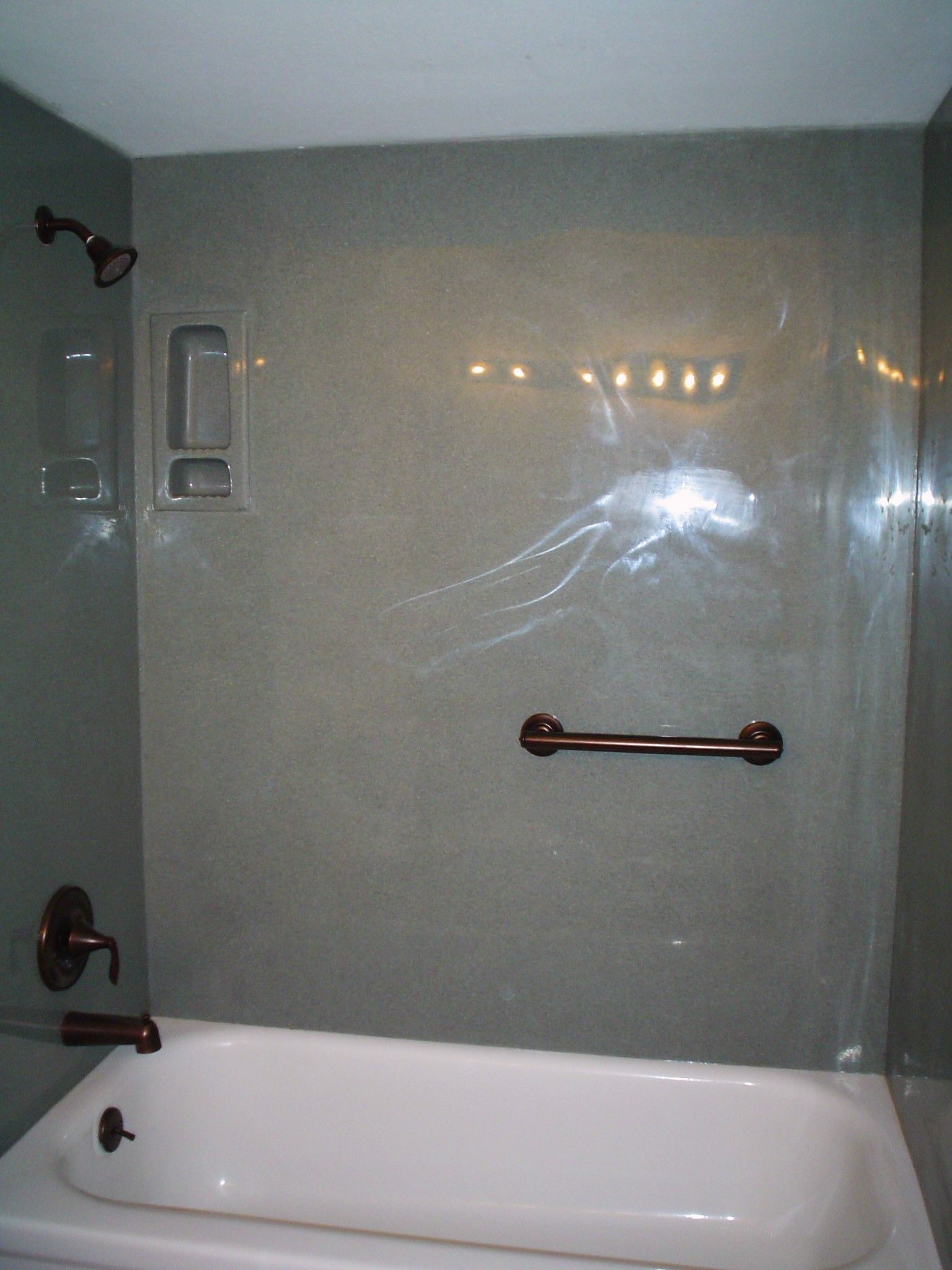 Cultured Marble Shower Walls Copyright 2009 A Better Look All Rights Reserved Cultured Marble Shower Marble Showers Bathtub Surround