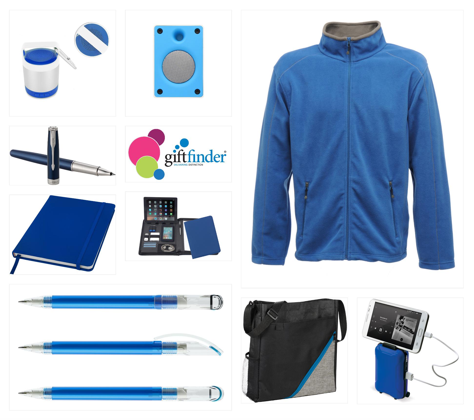 Blue Brand Board promotional merchandise branding