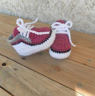 Baskets bébé crochet facile