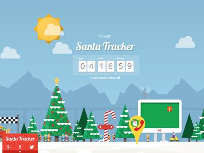 Santa Tracker Santa tracker, Christmas campaign, Web