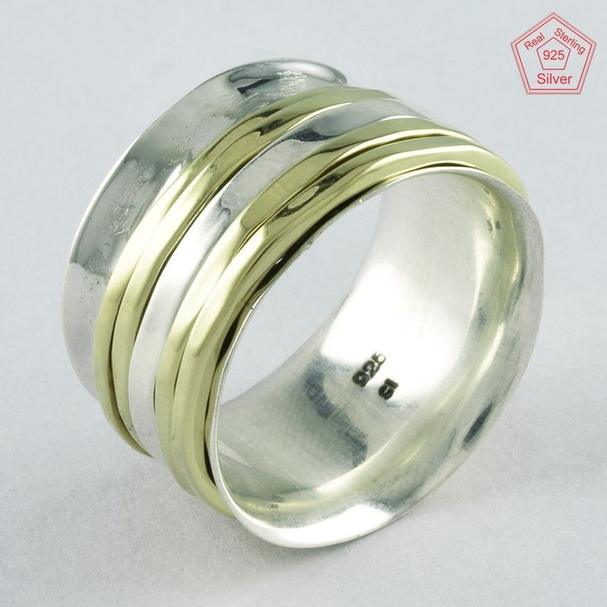 50b05ea48 Multi Band 925 Sterling Silver Spinner Ring _ Silvex Images India _ SZ. 8  US #SilvexImagesIndiaPvtLtd #Spinner