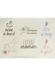 Planche 'Future maman' pour customisation, 22 x 30 cm, Bergère de France