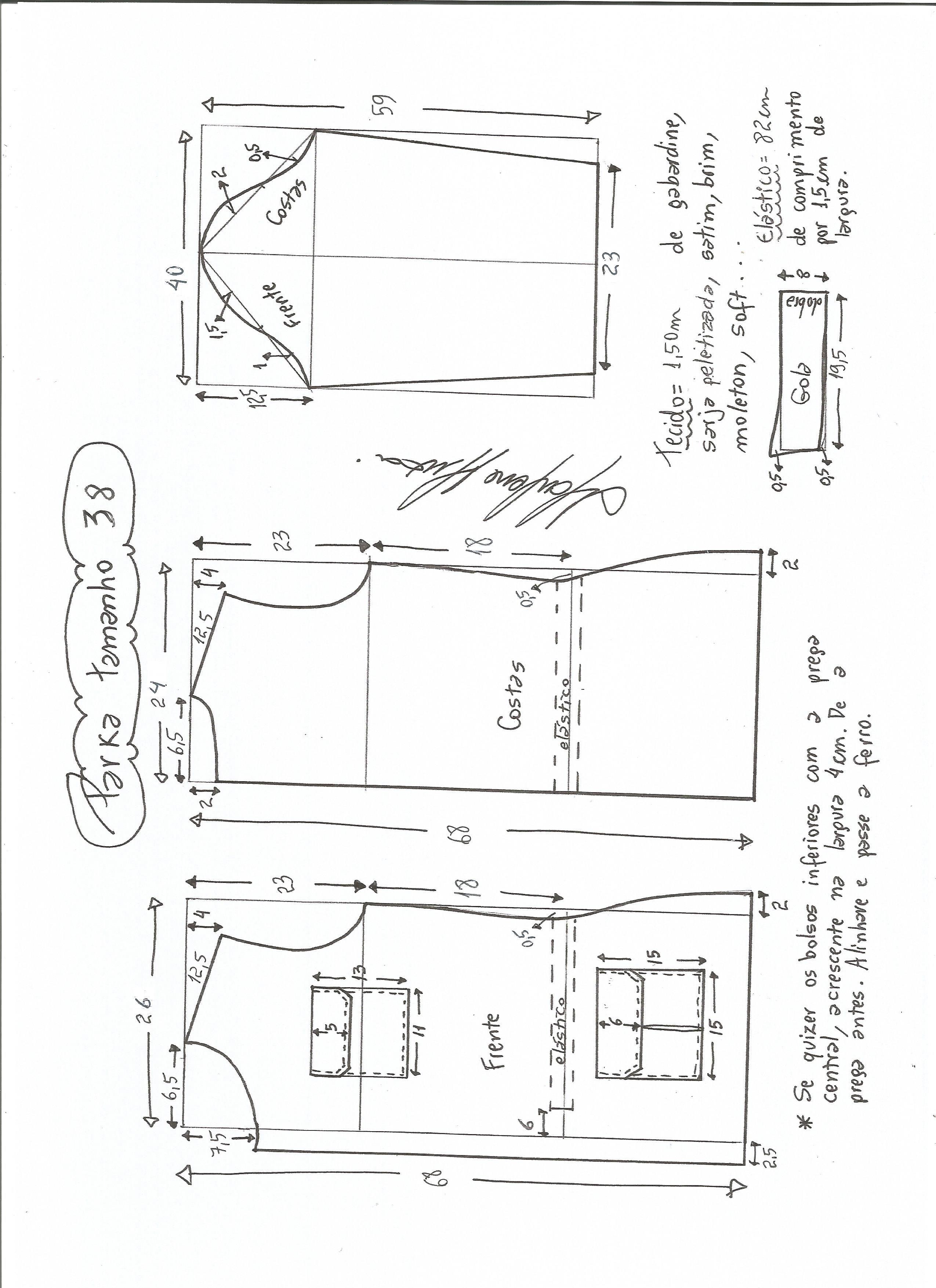 Parka | Cardigan pattern | Pinterest | Costura, Patrones y Molde