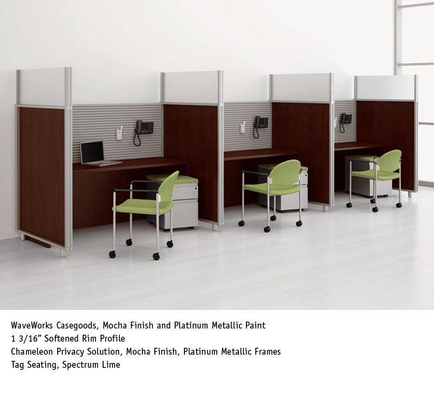 National Office Furniture Chameleon Dividers Waveworks casegoods