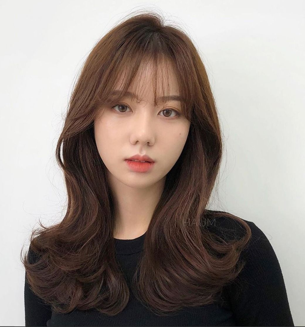 These Are The Hottest Korean Bangs In 2019 Top Beauty Lifestyles Korean Long Hair Korean Hair Color Short Hair With Bangs