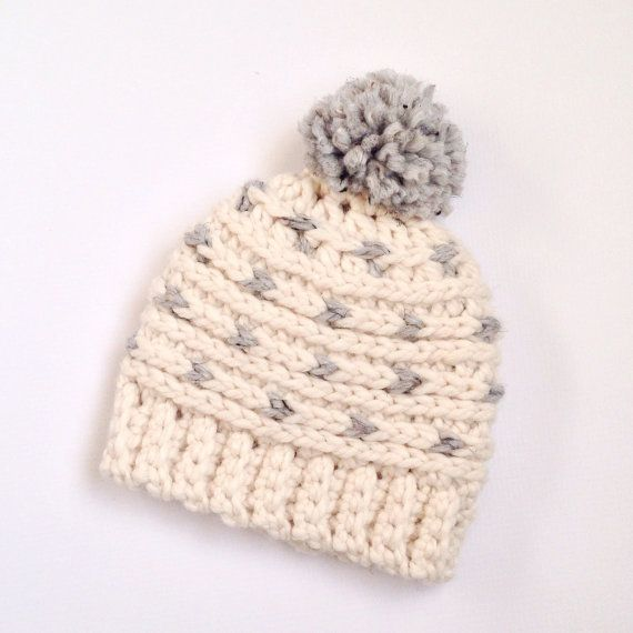Crochet hat pattern chunky crochet crochet Use 1 skein on Lion Brand wool  ease thick and quick yarn to crochet this fun hat. Add a big Pom Pom for  extra ... 18b671eda16