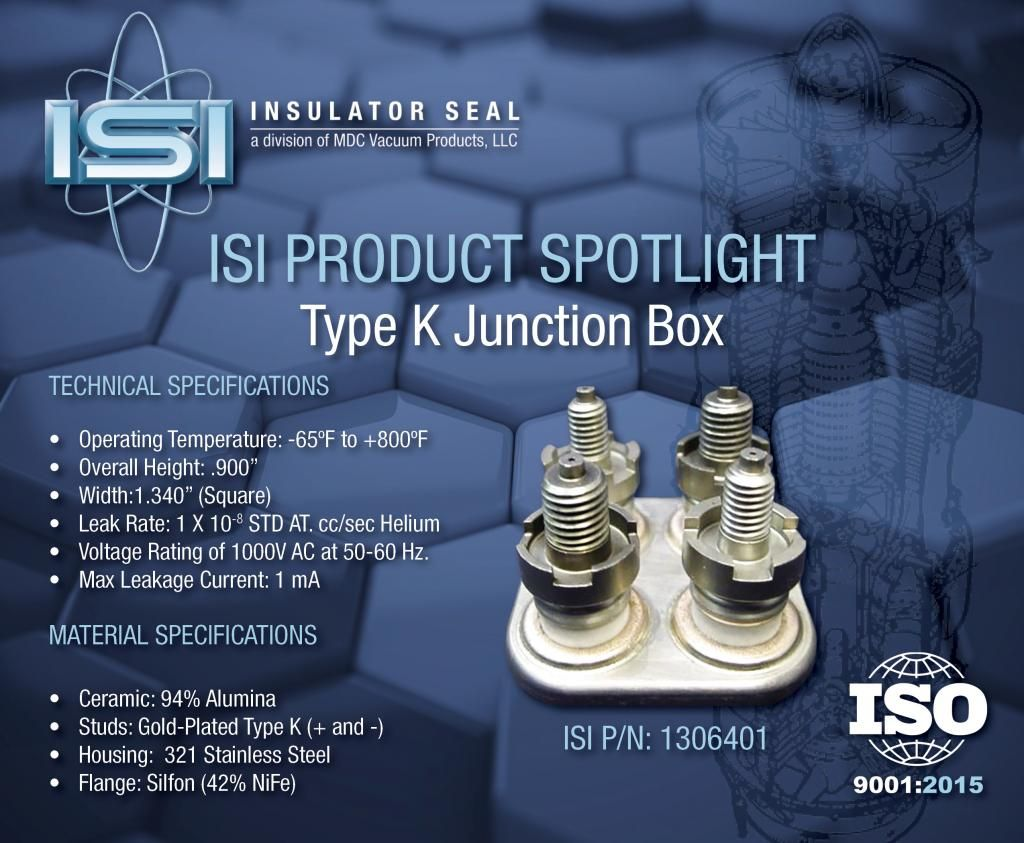Insulator Seal Isi A Division Of Mdc Vacuum Products Has Been
