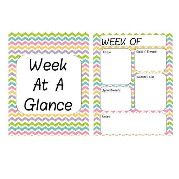 Printable Weekly Planner Sheets