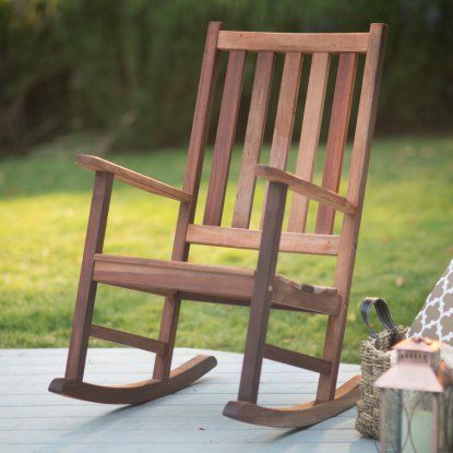 Belham Living Richmond Heavy Duty Outdoor Wooden Rocking Chair | Hayneedle