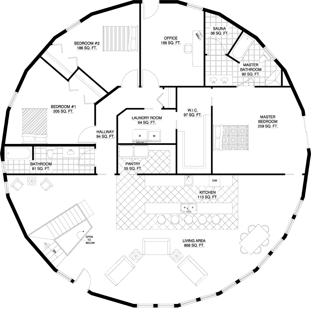 2 Story Vista 5006 Total Square Ft 5 Bedroom 6 Bath Could Do This One Too Floor Plans Dream House Plans Round House Plans