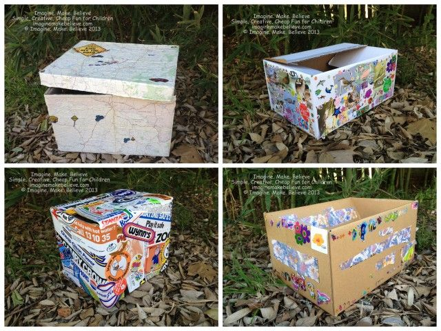 Cardboard Craft Boxes To Decorate Free Fun Friday  Supplies Box  Free Fun Fridays Cardboard Boxes