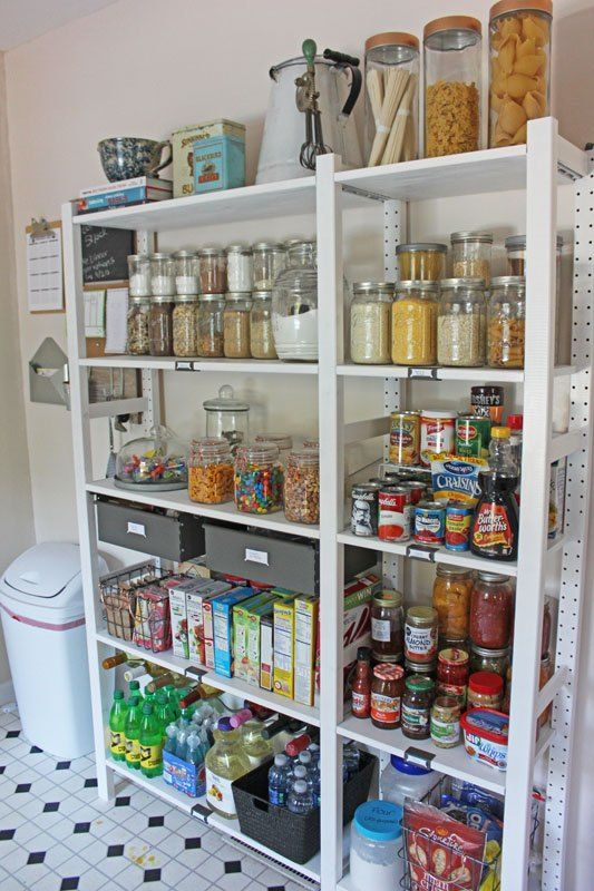 Create An Open Shelving Pantry With Ikea Shelves Closet Kitchen Cabinets Ideas Storage