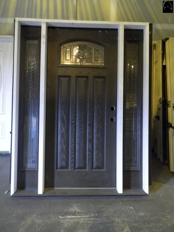 Stained Woodgrain Exterior Door By Feather River Prehung Single