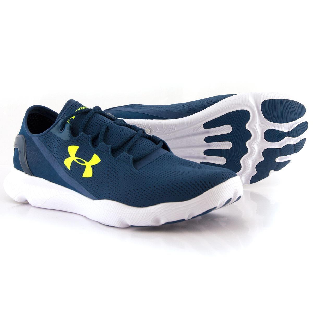Mens Petrol Blue Under Armour Speedform Apollo Running Shoes
