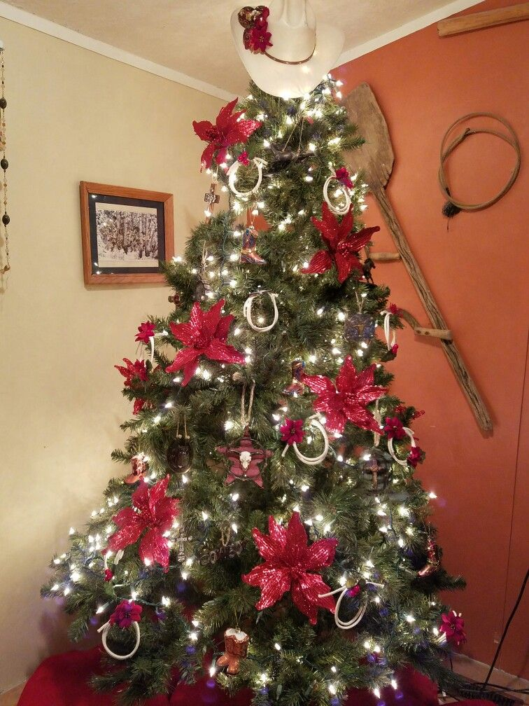 Western Christmas Tree Decorations.Cowboy Christmas Tree Country Christmas Western