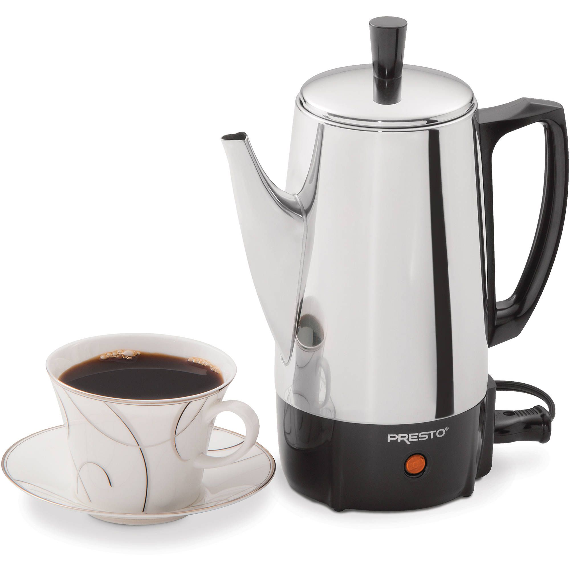 Presto 6Cup Stainless Steel Coffee Maker 02822 Walmart